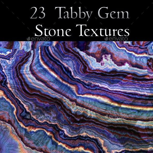 23 Tabby Onyx Gem Stone Textures - High Resolution JPG Files