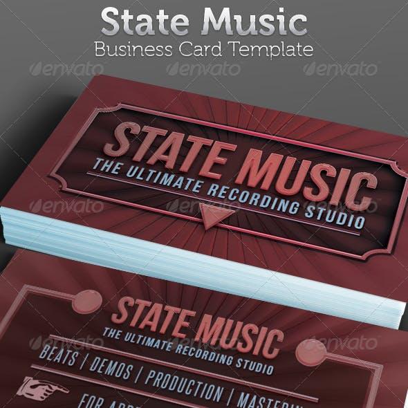 Recording Studio Business Card Template