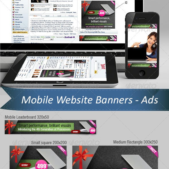 Mobile Website Ads - Banners