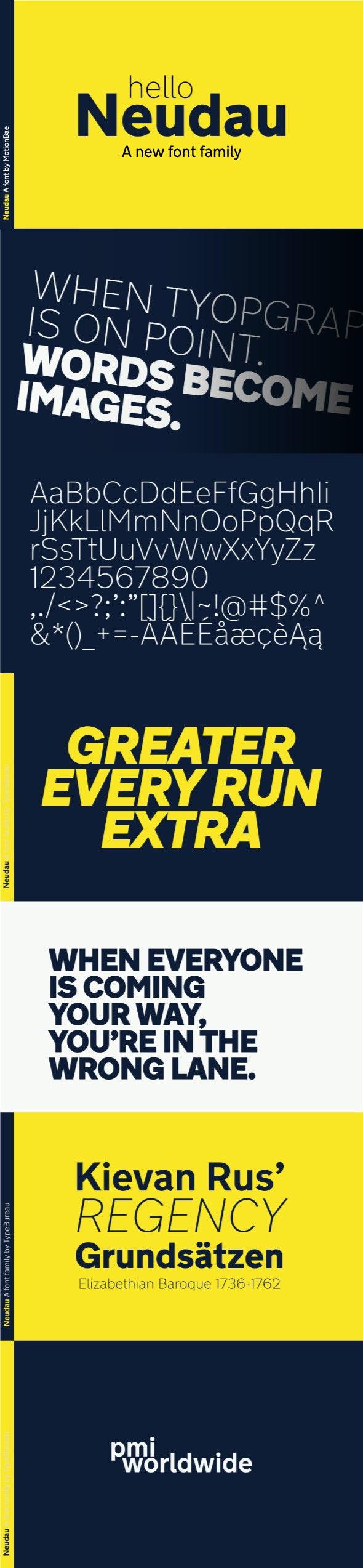 Neudau Sans Serif Font - Sans-Serif Fonts