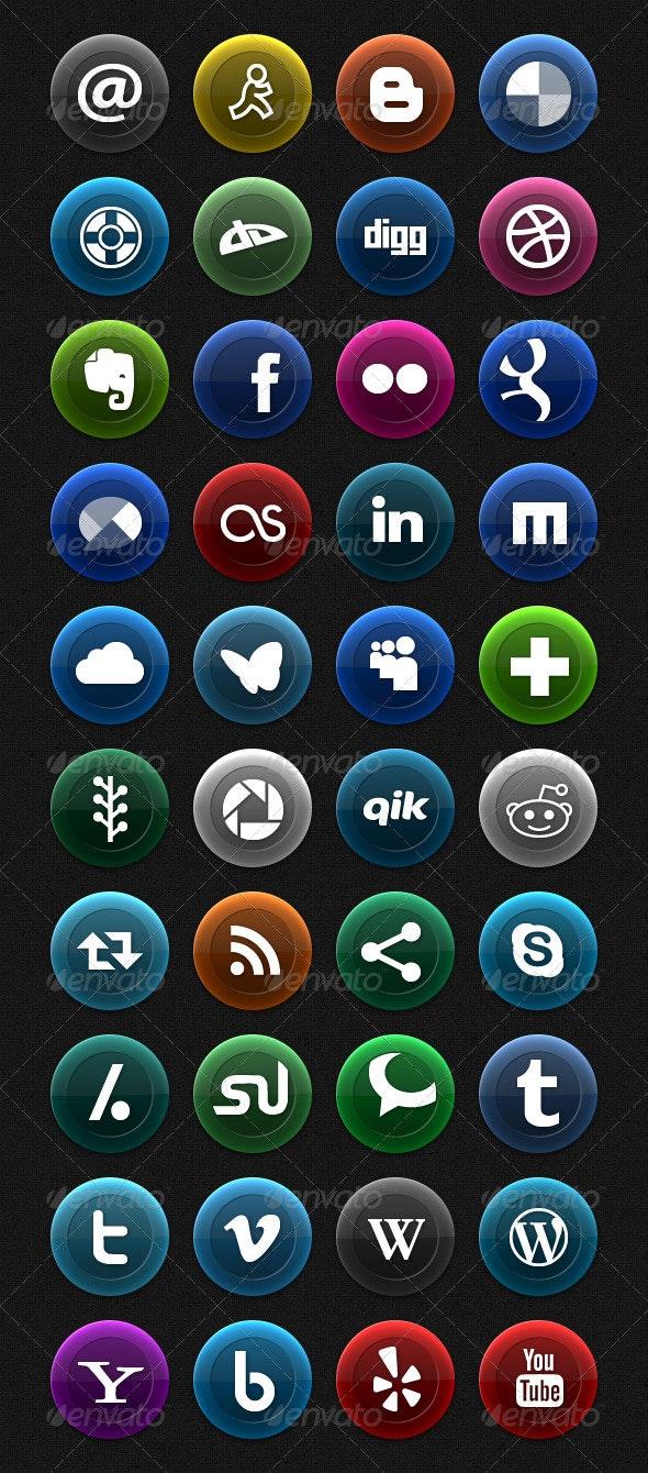 Vibrant Velvet - Social Media Icons - Web Icons