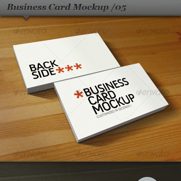 Business card mockup display - Smart template 05