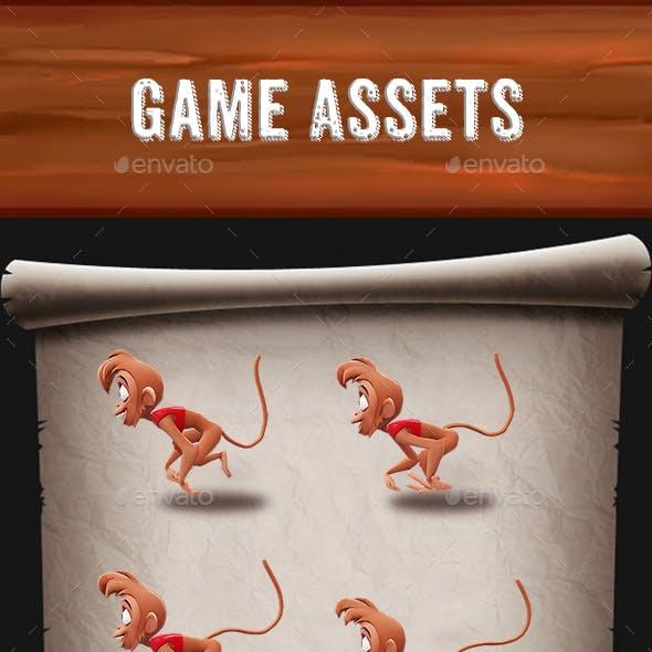 Monkey Sprint Game Assets