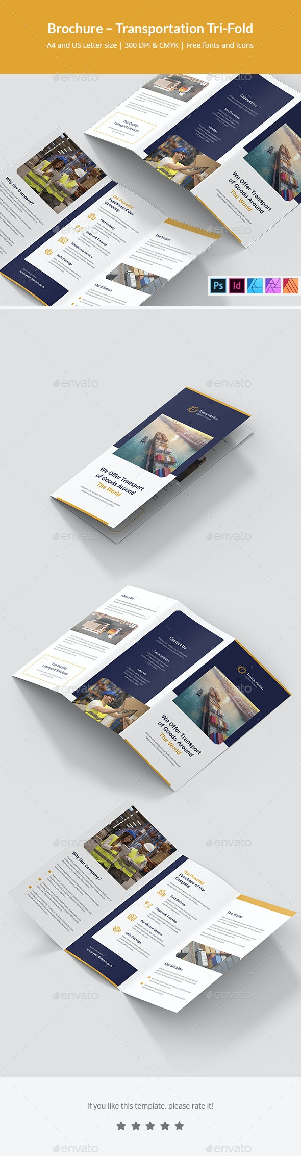 Brochure Transportation Tri-Fold - Corporate Brochures