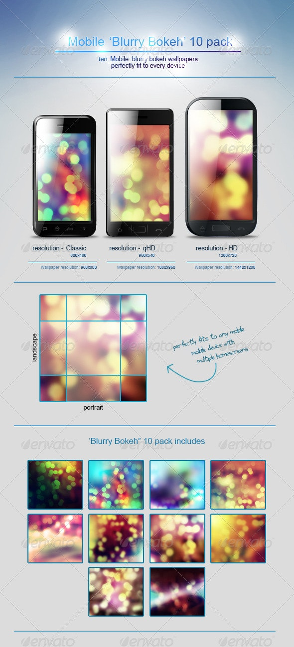 Mobile 'Blurry Bokeh' wallpapers - Abstract Backgrounds