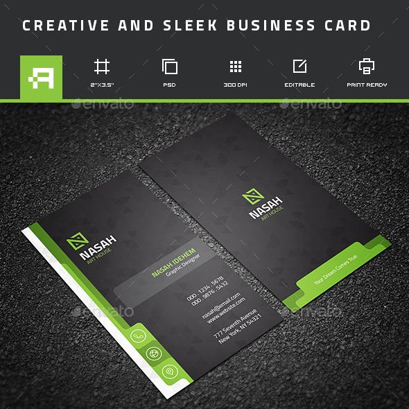 Creative & Sleek Business Card