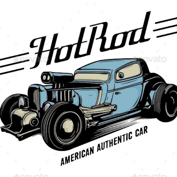 Vintage Hotrod Car Vector