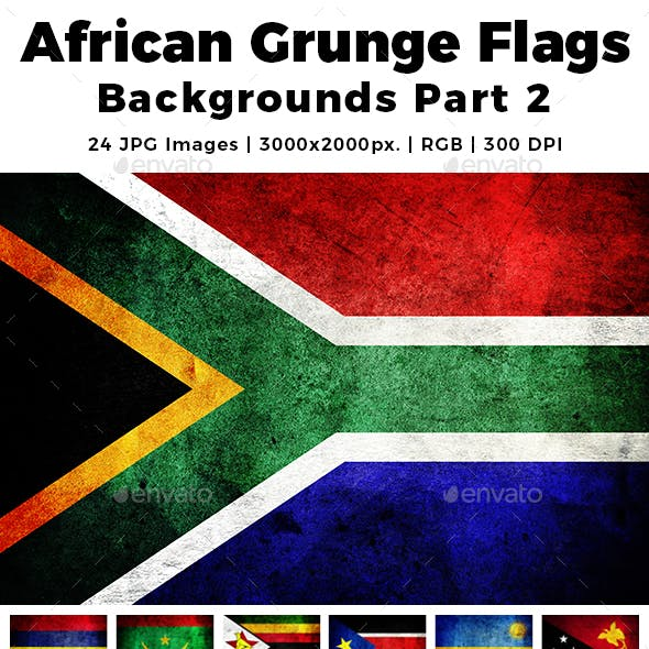 African Grunge Flags Backgrounds Part 2