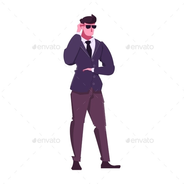 Flat Security Guard - People Characters