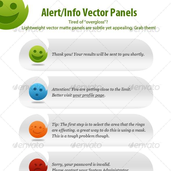 Alert/Info Panels