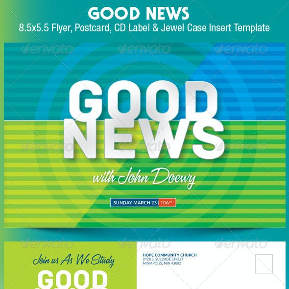 Good News Church Postcard CD Template