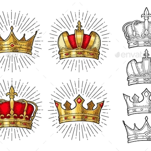 Four Different King Crowns
