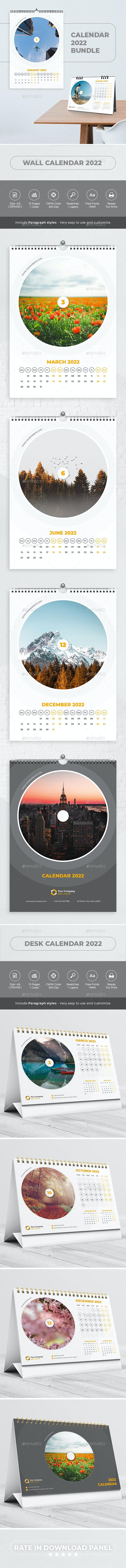 Calendar 2022 Bundle V12 - Calendars Stationery