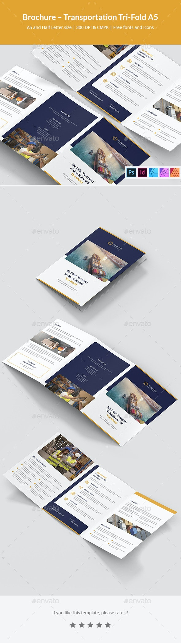 Brochure – Transportation Tri-Fold A5 - Corporate Brochures