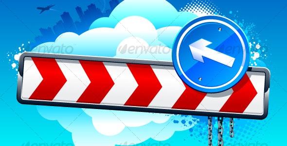 Vector direction arrow sign - Decorative Symbols Decorative