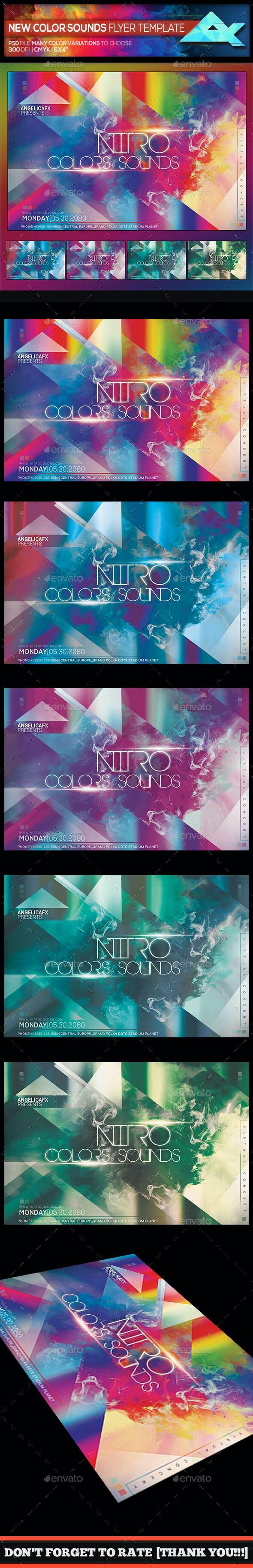 Nitro Color Sounds Photoshop Flyer Template - Events Flyers
