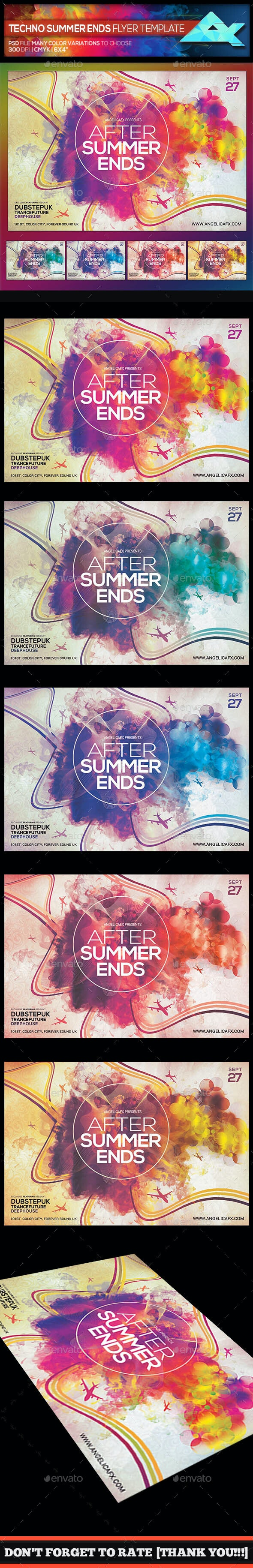 After Summer Ends II Photoshop Flyer Template - Flyers Print Templates