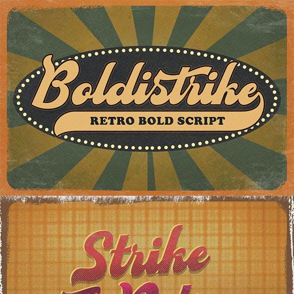 Boldstrike - Retro Bold Script