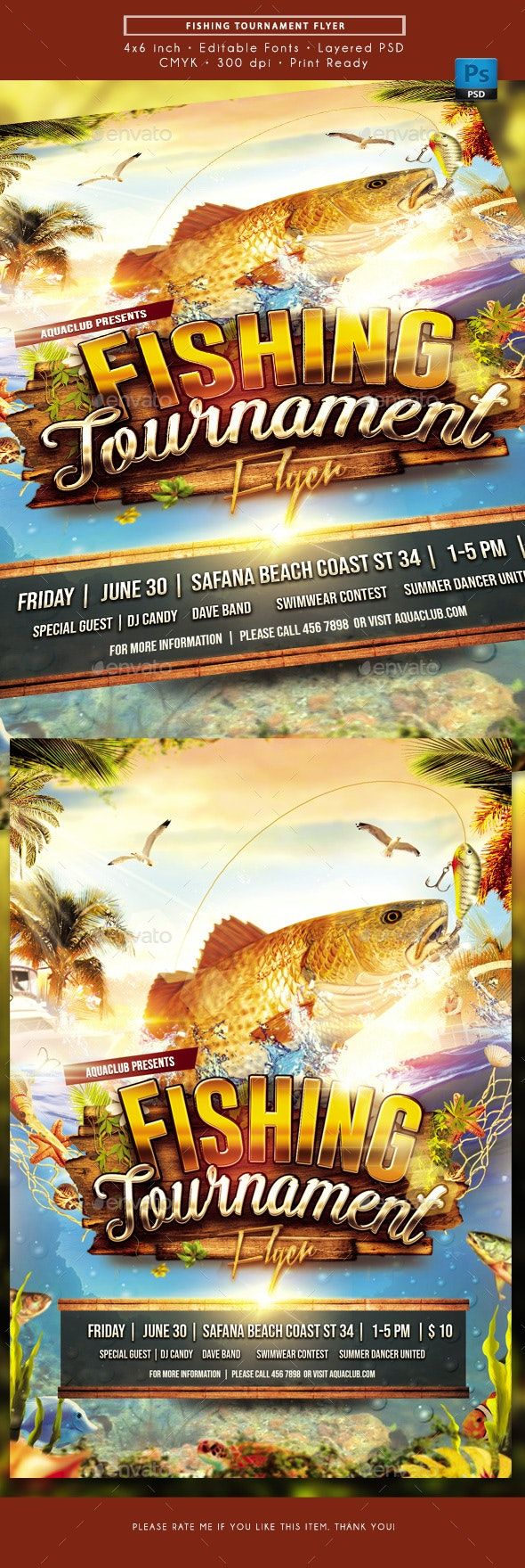 Fishing Tournament Flyer - Miscellaneous Events