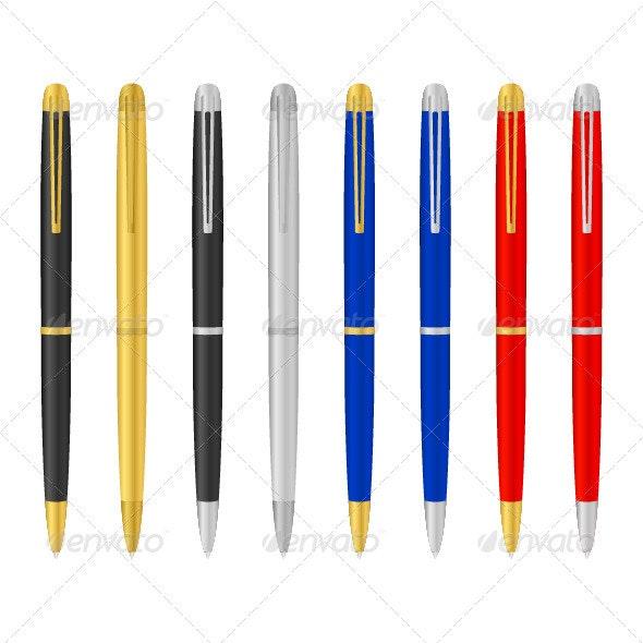 Ballpoint pens - Objects Vectors