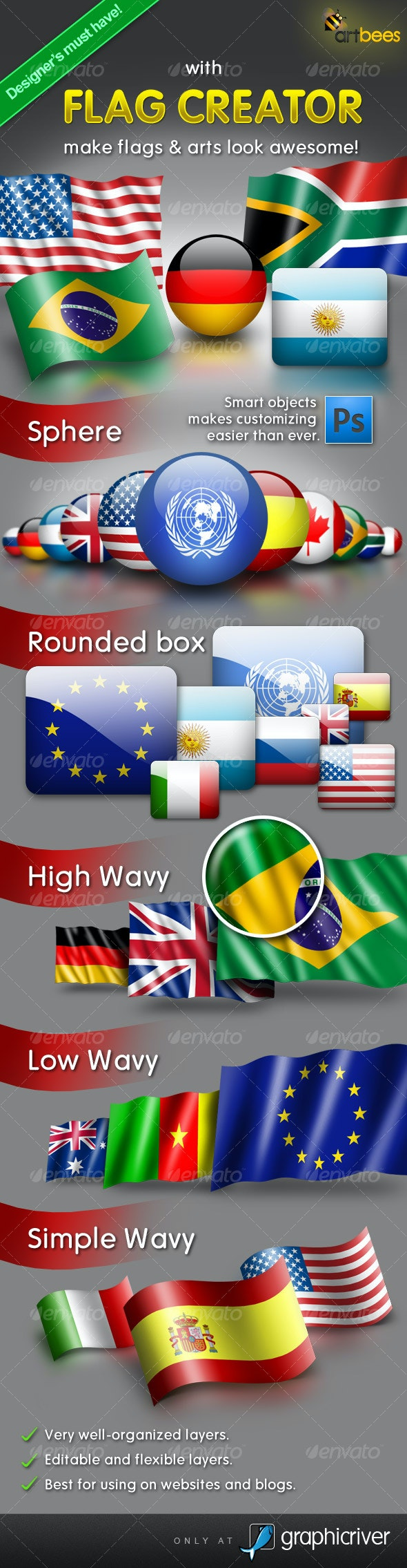 Flag Creator - Miscellaneous Product Mock-Ups