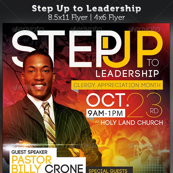 Step Up to Leadership: Church Flyer Template