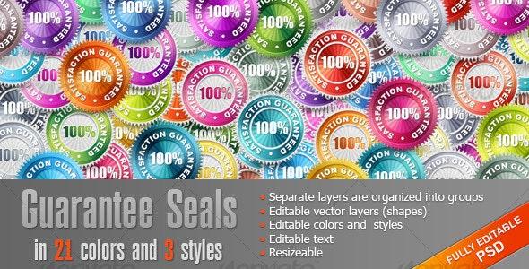 Guarantee Seals - Web Elements