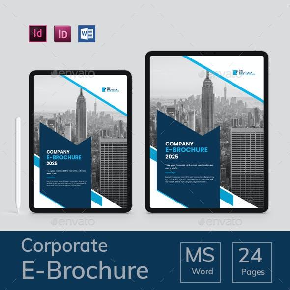 Company Profile Brochure E- book word template