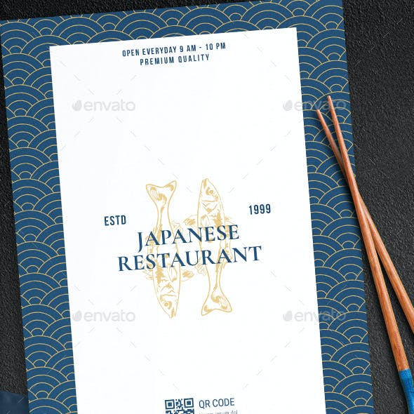 Japanese Sushi Menu Template