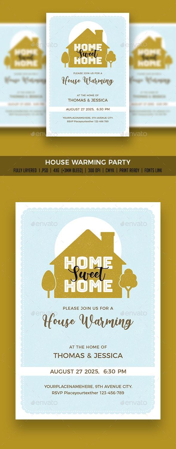 House Warming Flyer/Invitation - Flyers Print Templates