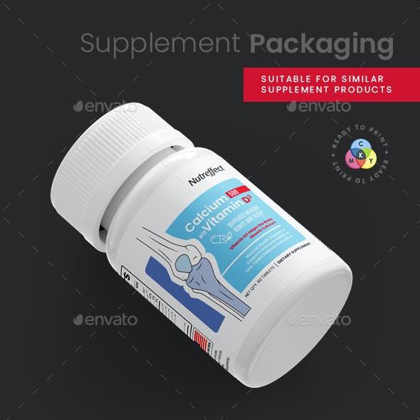 Calcium / Vitamin D Supplement Packaging Label