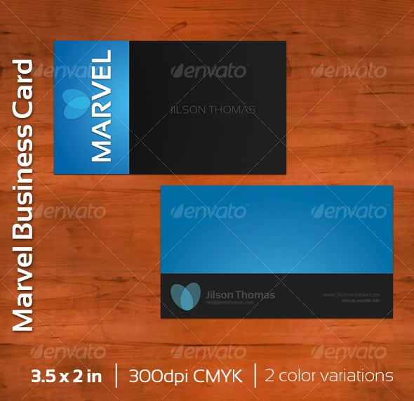 Marvel Business Card - Corporate Business Cards