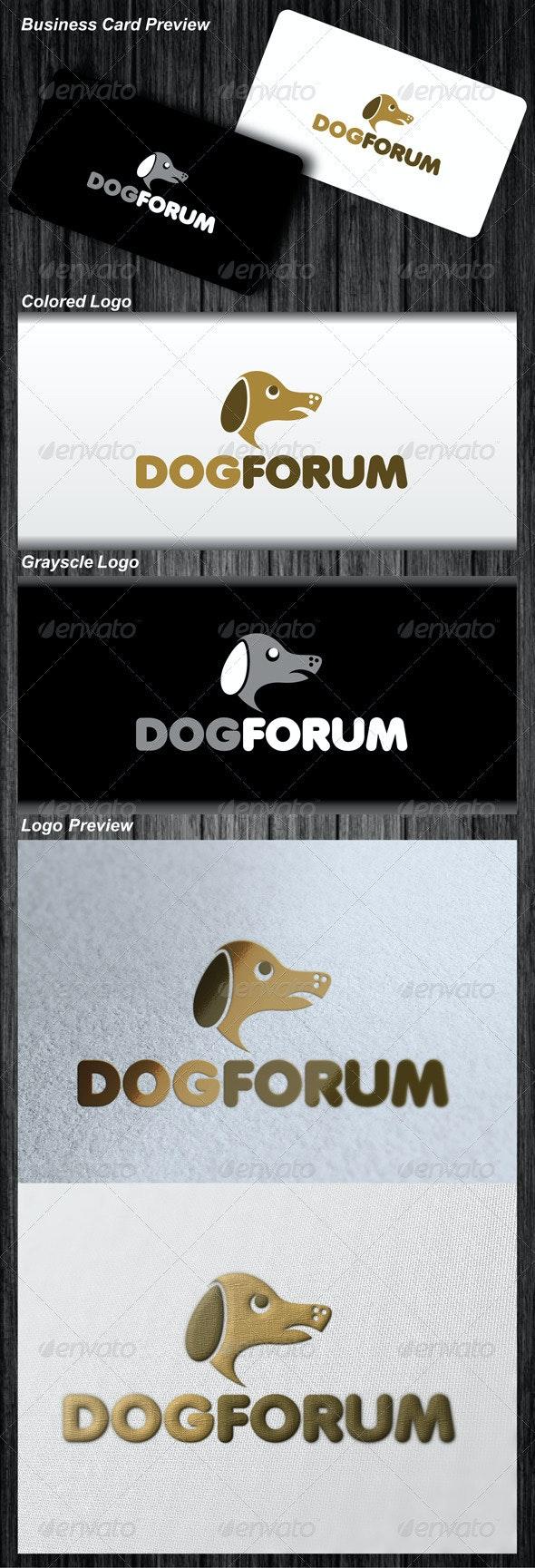 Dog Forum Logo - Animals Logo Templates