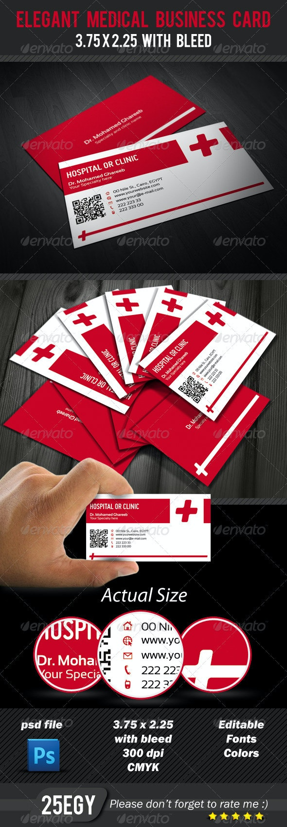 Elegant Medical Business Card - Industry Specific Business Cards