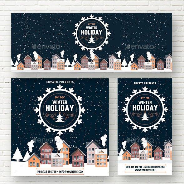 Winter Holiday Social Media Template