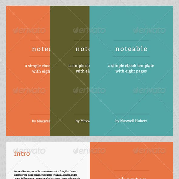 Notable - eBook Template or Print Book