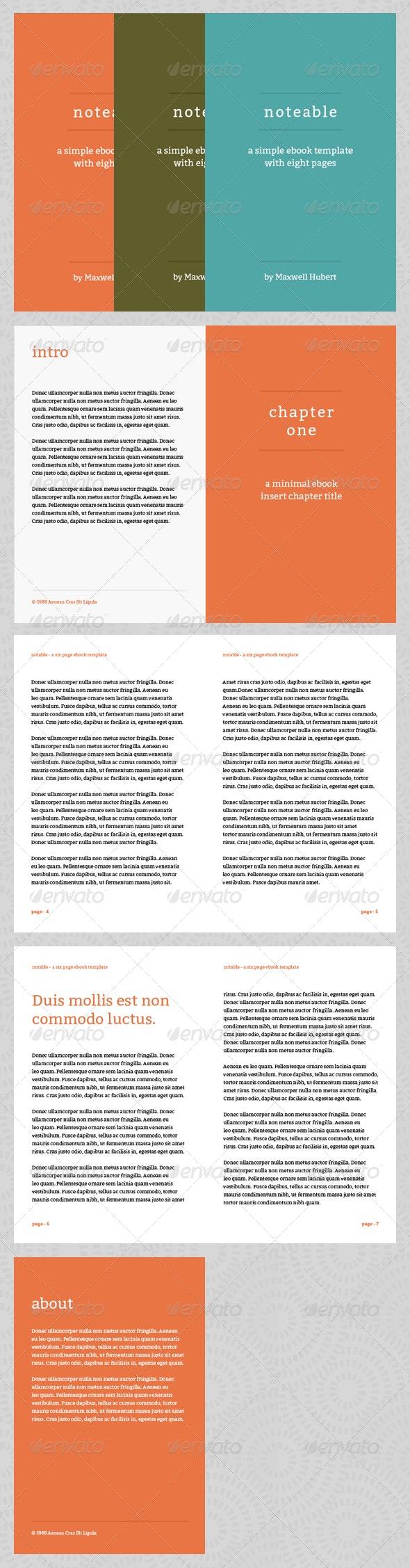 Notable - eBook Template or Print Book - Miscellaneous Print Templates