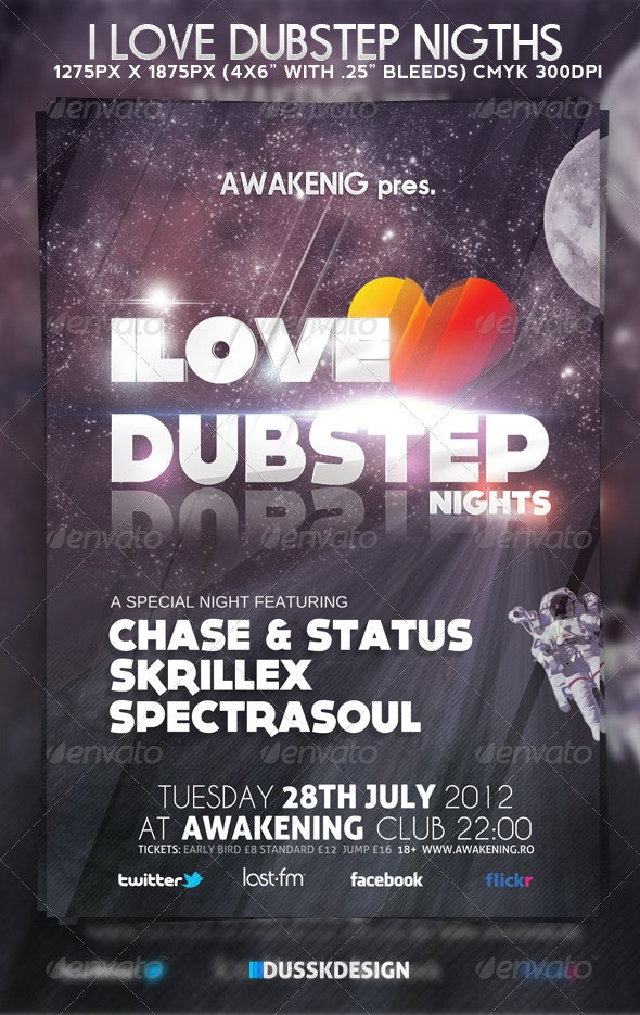 Dubstep Flyer - Clubs & Parties Events