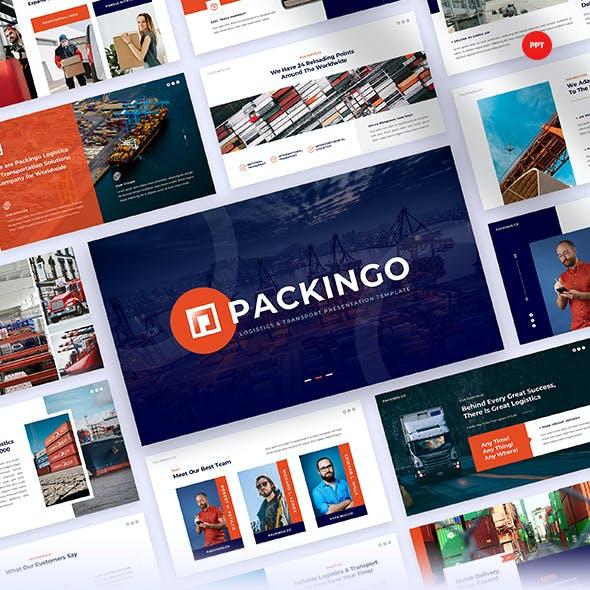 Packingo - Logistics & Transport PowerPoint Presentation Template