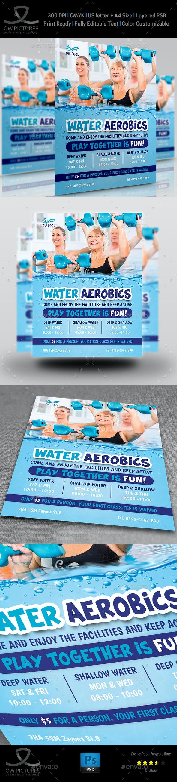 Water Aerobics Flyer Templates - Flyers Print Templates