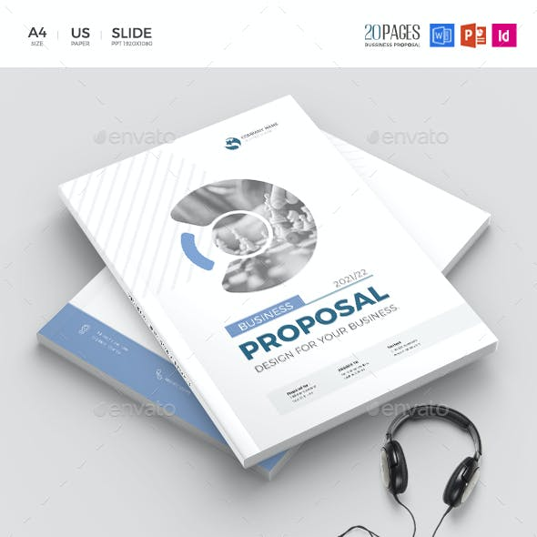 Business Proposal, PowerPoint & Word Template 20 Pages