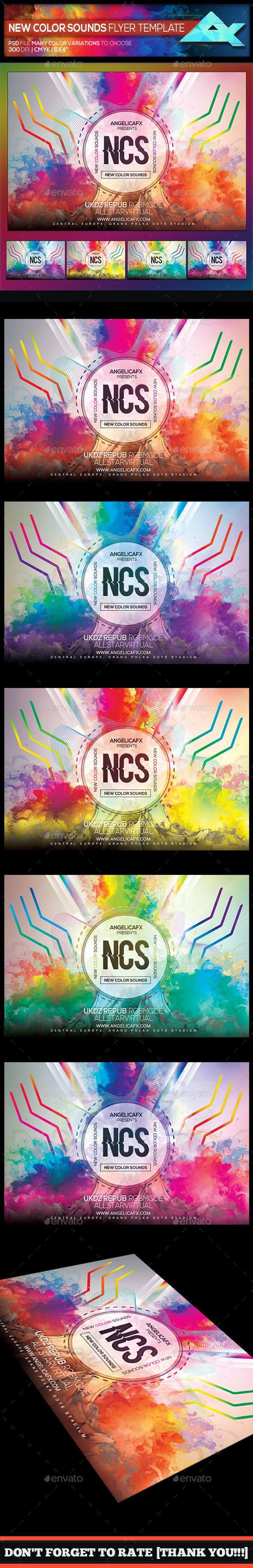 NCS New Color Sounds Photoshop Flyer Template - Events Flyers