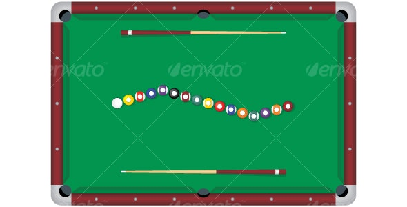 Pool Table - Objects Vectors
