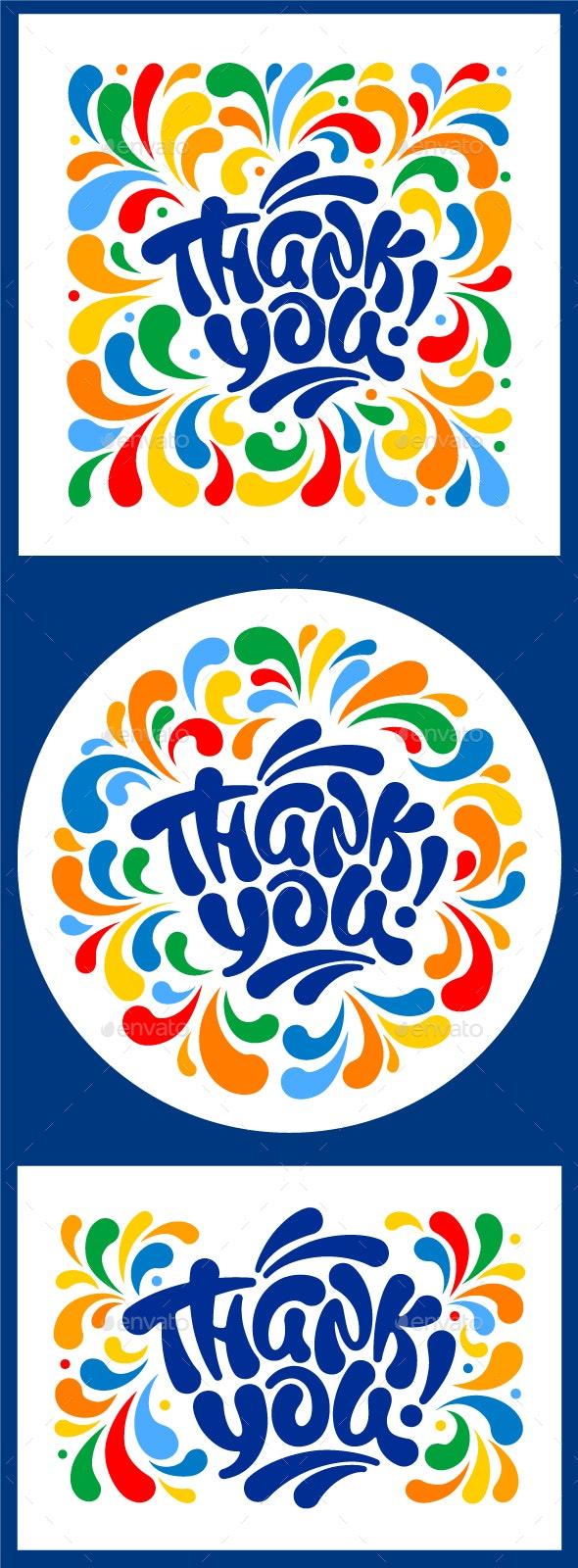 Thank You Designs Set - Decorative Symbols Decorative