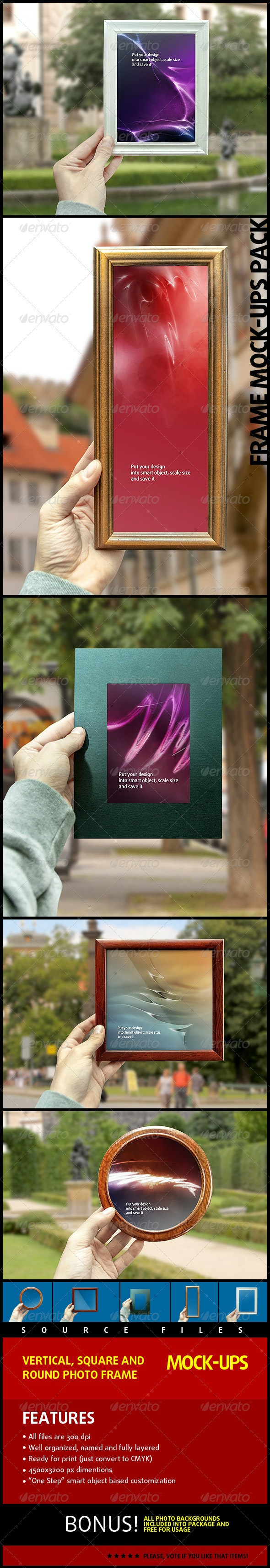 Photo Frame Mock-Ups Pack - Miscellaneous Displays