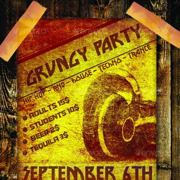 Grungy Party Poster