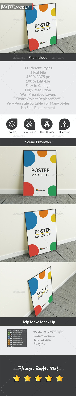 Photorealistic Photo Frame Mock Up - Product Mock-Ups Graphics