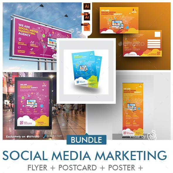Social Media Marketing Promotional Print Template Bundle