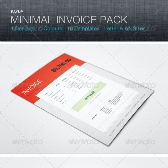 PayUp Minimal Invoice Template Pack