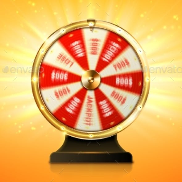 Fortune Wheel Spin Casino Lucky Roulette Game